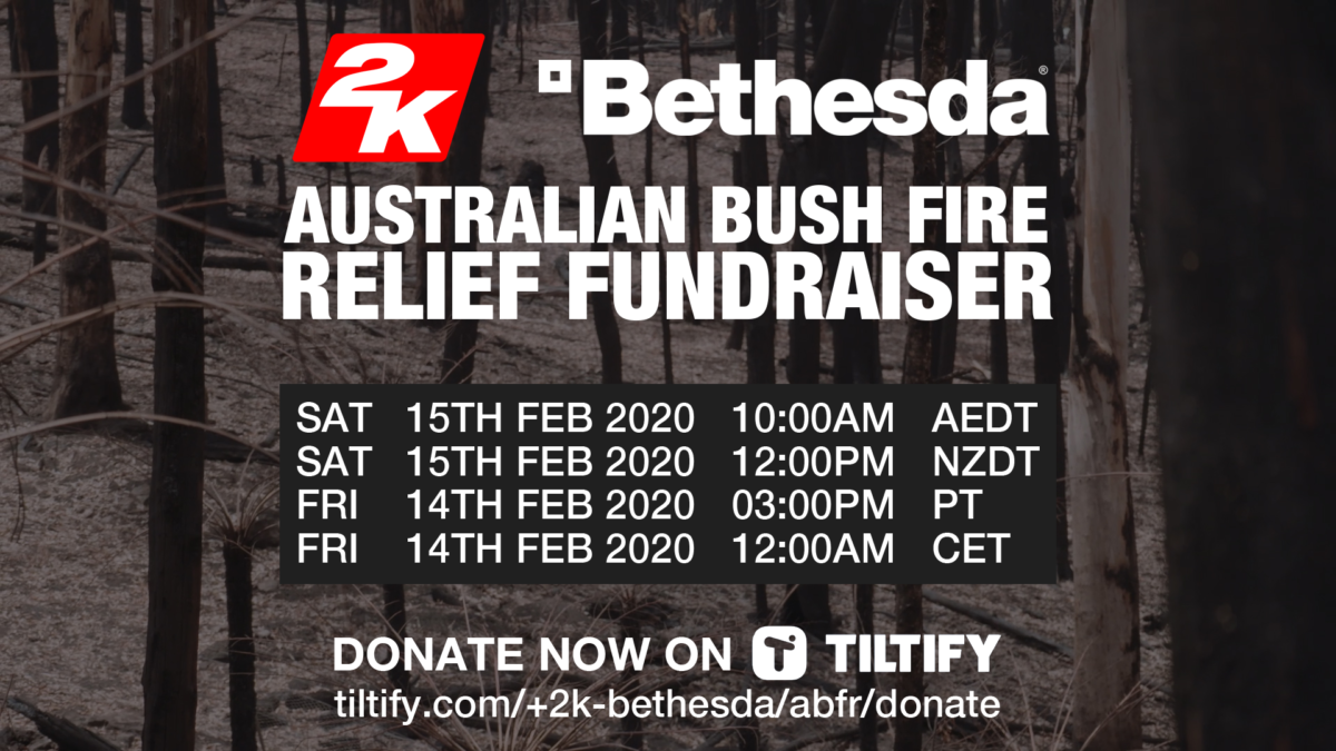 2K Bethesda Australian bushfire relief