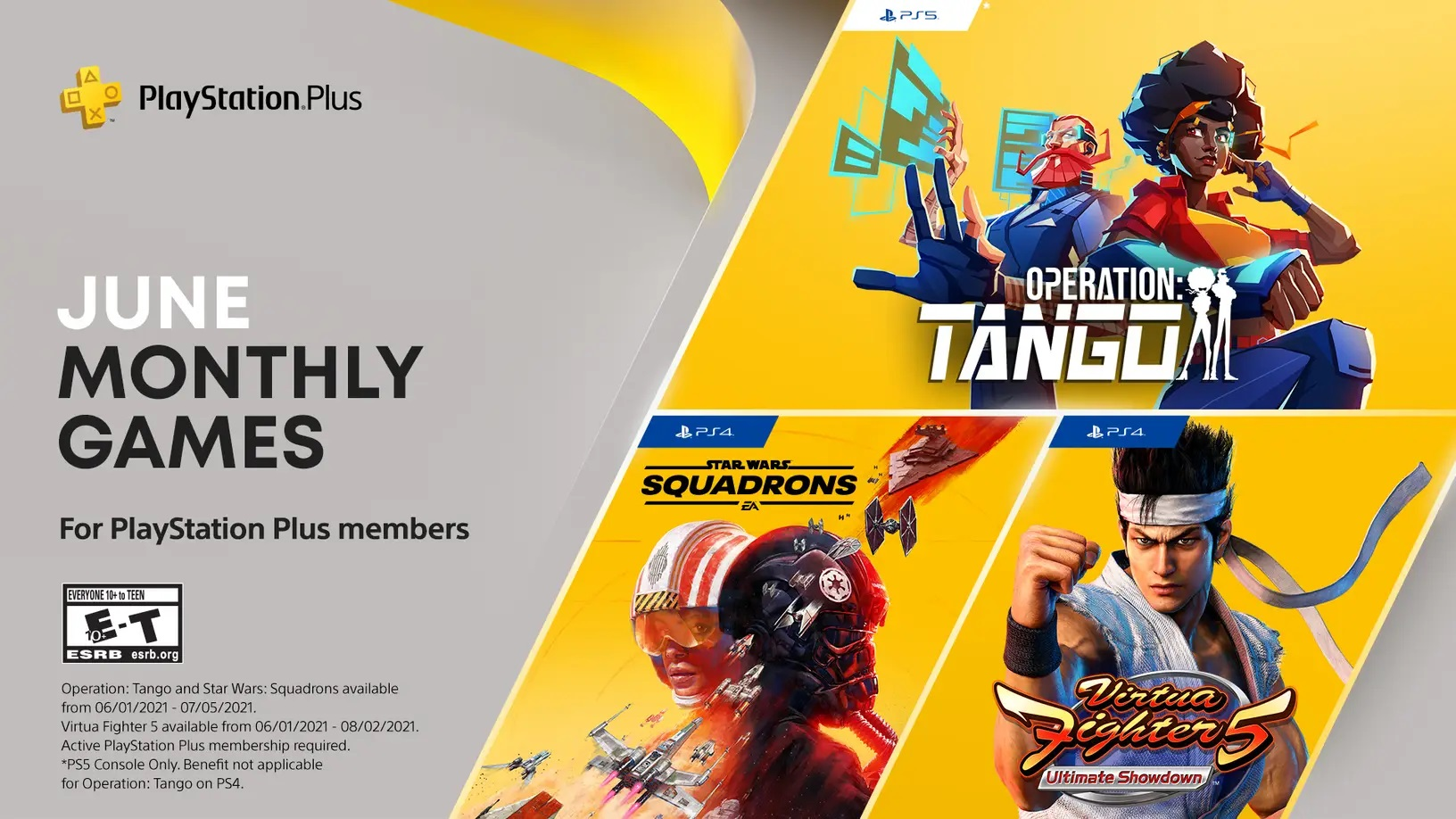 Star Wars Squadrons PlayStation Plus